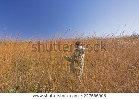 Nature Lover in the Tall Prairie Grass Stock photo © wildnerdpix