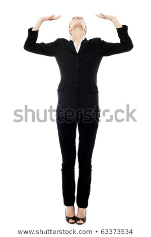 Young businesswoman oppressed on white background studio stock photo © ambro