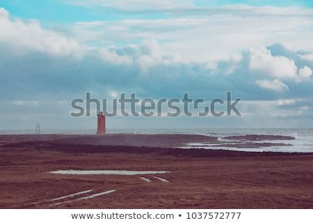 paysage · blanche · phare · dramatique · vue · eau - photo stock © 1Tomm