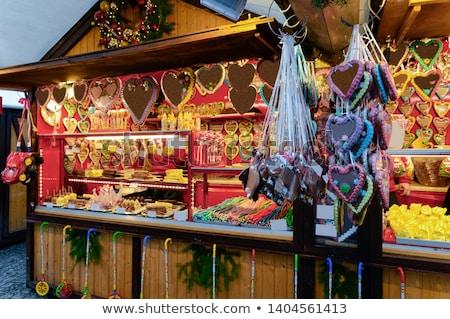 Берлин Рождества рынке здании город свет Сток-фото © LianeM