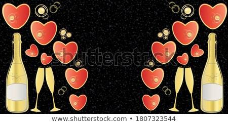 Foto stock: Granito · pedras · vermelho · coração · amor · piso