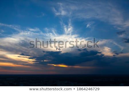 Azul naranja cielo Munich Alemania puesta de sol Foto stock © meinzahn