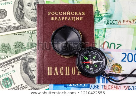 isolado · americano · passaporte · EUA · branco · novo - foto stock © valeriy