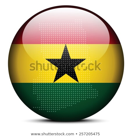 Map with Dot Pattern on flag button of Republic of Ghana Stock photo © Istanbul2009