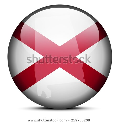 Map on flag button of USA Alabama State Stock photo © Istanbul2009