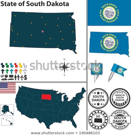 Map on flag button of USA South Dakota State Stock photo © Istanbul2009