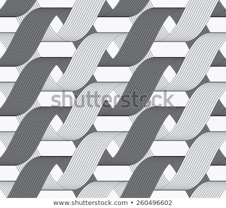 ribbons dark and light forming horizontal overlapping loops patt stock photo © zebra-finch