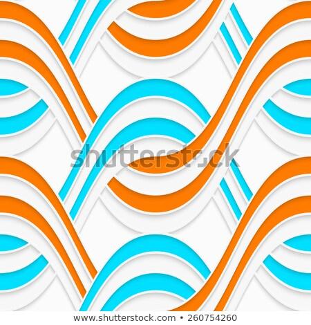 White embossed interlocking blue waves Stock photo © Zebra-Finch