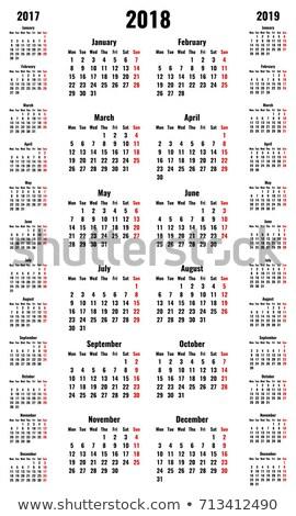 ... fotoğraf / Stok vektör ilüstrasyonu : 2017 Calendar template