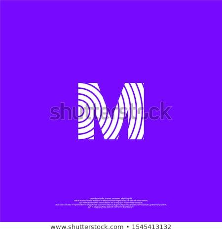 Doigt imprimer alphabet lettre m lettre transparent Photo stock © PokerMan