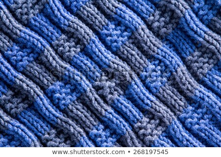 Homemade Woven Crochet with Diagonal Ridge Lines Stock photo © ozgur