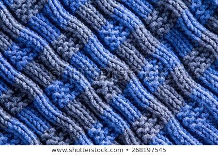 homemade woven crochet with diagonal ridge lines stock photo © ozgur