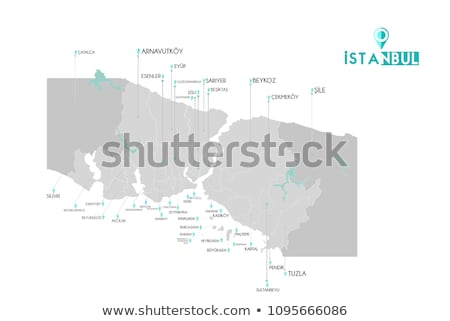 Istanbul Map with administrative districts where Zeytinburnu is  Stock photo © Istanbul2009