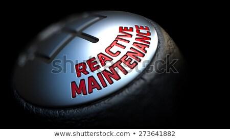 onderhoud · vergoedingen · versnelling · verschuiven · Rood · tekst - stockfoto © tashatuvango