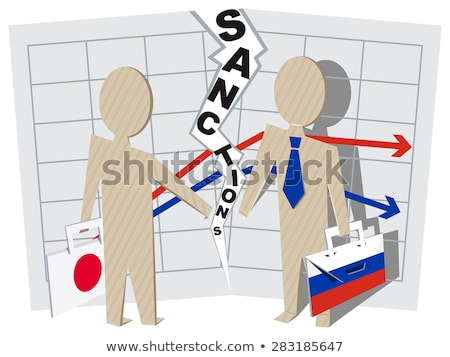 Japan sanctions against Russia negative impact on business Stock photo © orensila