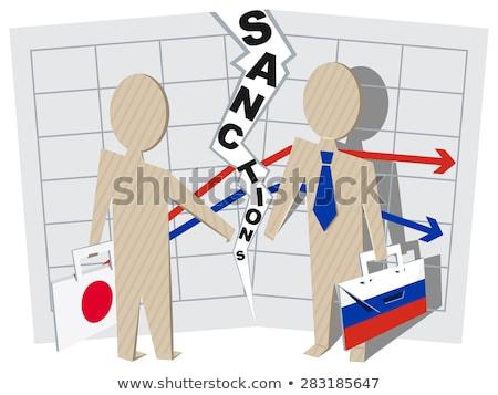 Japan Rusland negatieve business illustratie vector Stockfoto © orensila