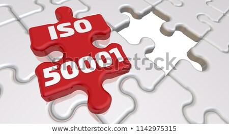 energy   text on red puzzles stock photo © tashatuvango