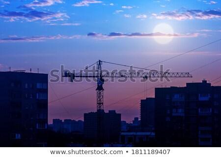 строительство · промышленности · производства · закат - Сток-фото © all32