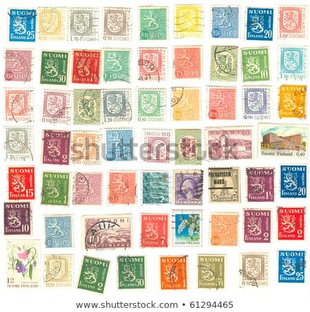 Finnish postage stamp Stock photo © vtls