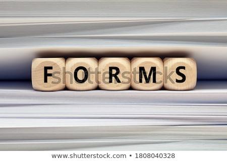 言葉 · フォルダ · カード · 選択フォーカス · データ · 文書 - ストックフォト © tashatuvango
