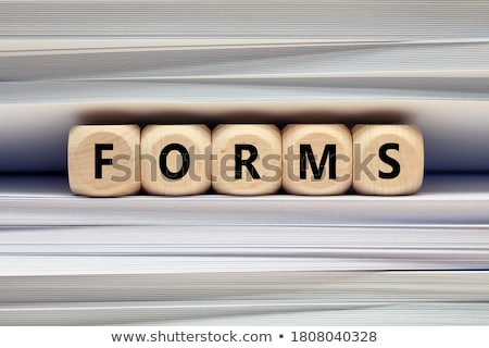 Forms Concept with Word on Folder. Stock photo © tashatuvango