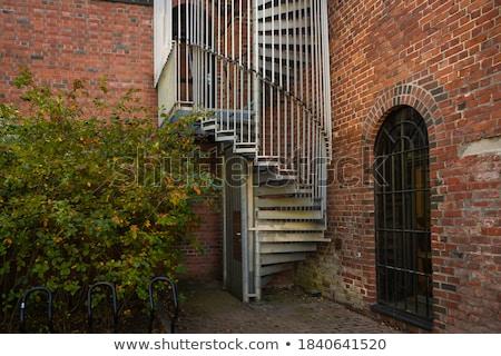Spiral Staircase Metal Brick Architecture Historic Building Inte Stock photo © cboswell