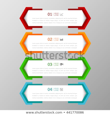 Colorful banner or text box for web design Stock photo © shawlinmohd