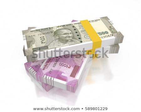 Indian soldi nota fotografia testo scelta Foto d'archivio © imagedb