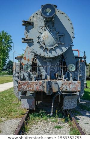 buhar · tren · siyah · beyaz · duman · bağbozumu · motor - stok fotoğraf © clearviewstock