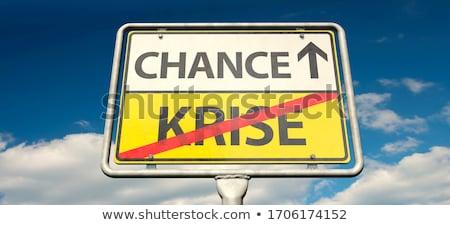 Crisis word Stock photo © fuzzbones0