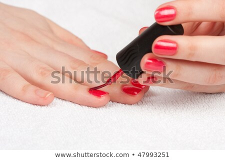 женщину ногти окрашенный салон красоты рук красоту Сток-фото © wavebreak_media