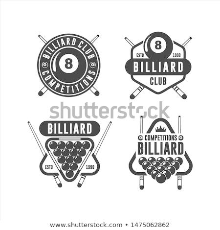 бильярд снукер спортивных эмблема текста логотип Сток-фото © netkov1