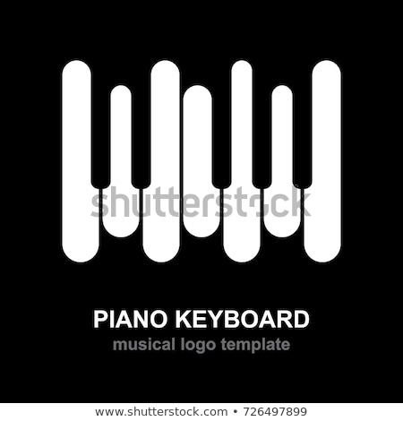 Pianotoetsen zwarte piano licht toetsenbord achtergrond Stockfoto © art9858