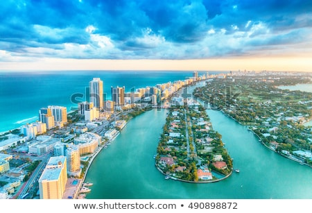 Miami tengerpart kilátás belváros város kék ég Stock fotó © lunamarina