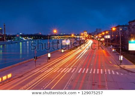 night light roads and embankment Stock photo © Mikko