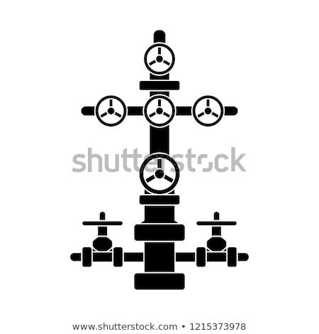 油 ガス 業界 電源 頭 ツール ストックフォト © EvgenyBashta