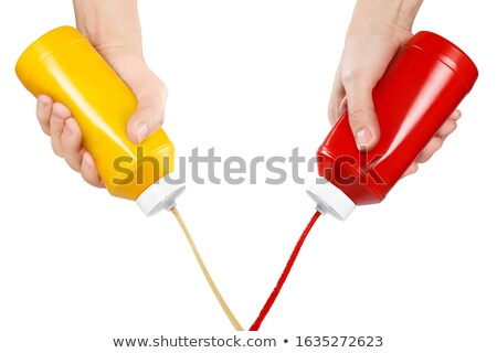 ketchup bottle on a white background Stock photo © ozaiachin