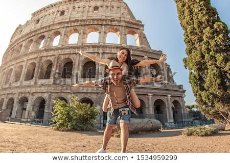 Jonge reiziger poseren modieus jongen studio Stockfoto © oleanderstudio