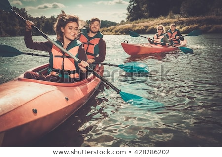 woman in the boat with the oars Stock photo © Paha_L