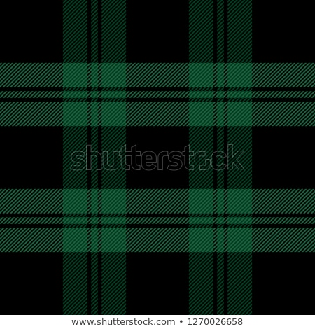 Tiled Green and Black Flannel Pattern Illustration Stock photo © enterlinedesign