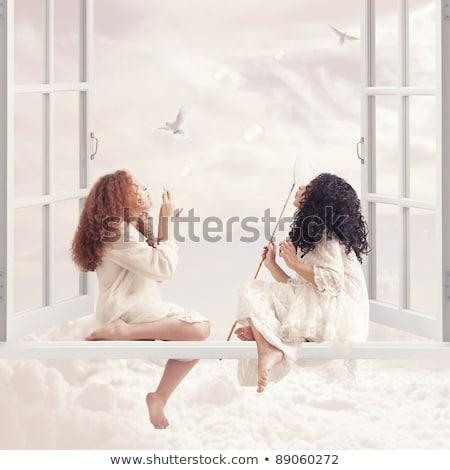 Pretty girl flying hairs 2 Stock photo © Paha_L