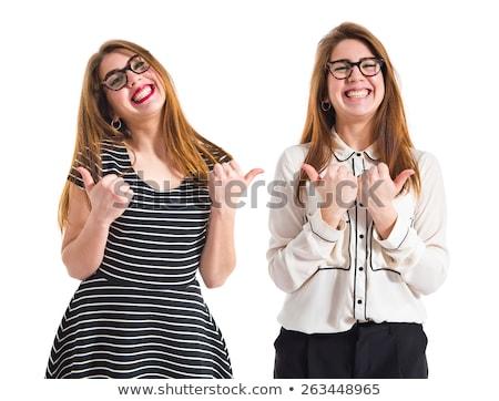 gêmeo · meninas · gesto · família · mão - foto stock © Paha_L
