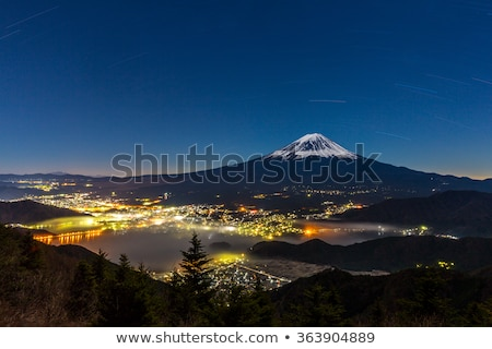 aerial mount fuji night stock photo © vichie81