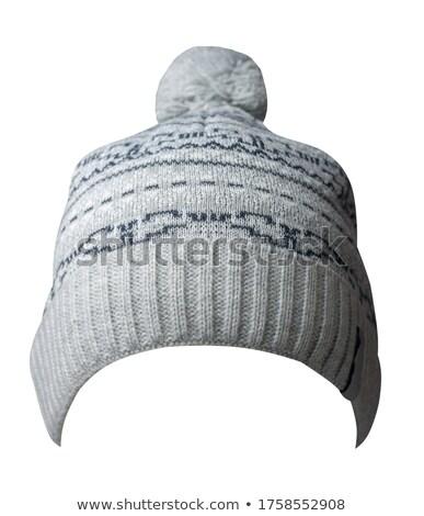 Azul quente tricotado inverno seis Foto stock © shutswis