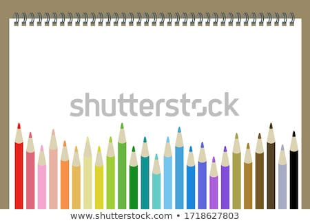 set of colored school supplies background eps 10 stock photo © beholdereye