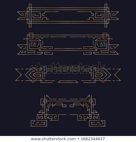 Vektor mértani lineáris stílus keret art deco Stock fotó © Fractal86