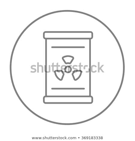 баррель излучение знак линия икона уголки Сток-фото © RAStudio