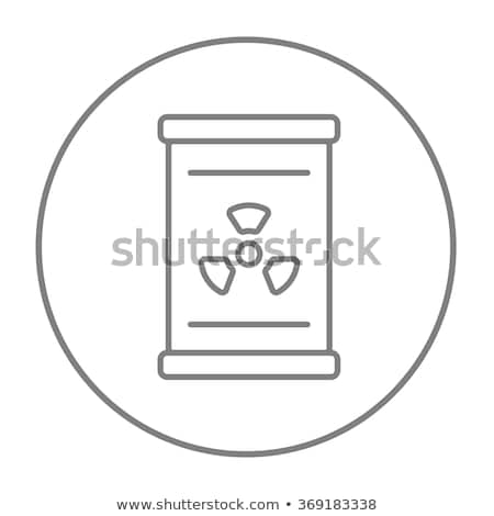 Barrel with ionizing radiation sign line icon. Stock photo © RAStudio