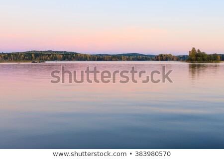 закат · отражение · небе · воды · солнце · природы - Сток-фото © bbbar