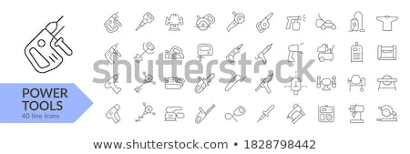 Pneumatic hammer drill line icon. Stock photo © RAStudio